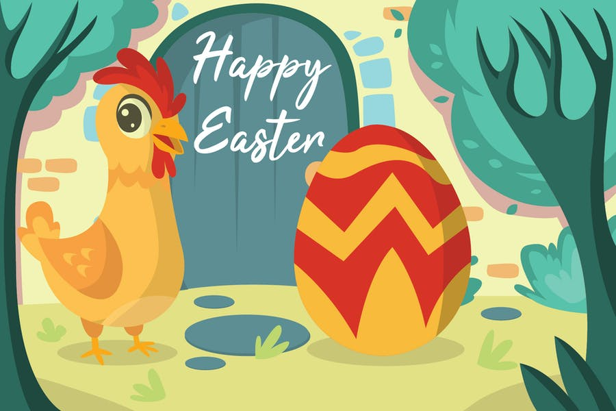3rd Easter Day - Vector Illustration