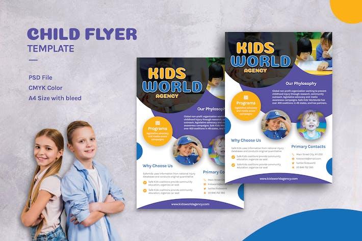 Thumbnail for Children Playful Flyer Template