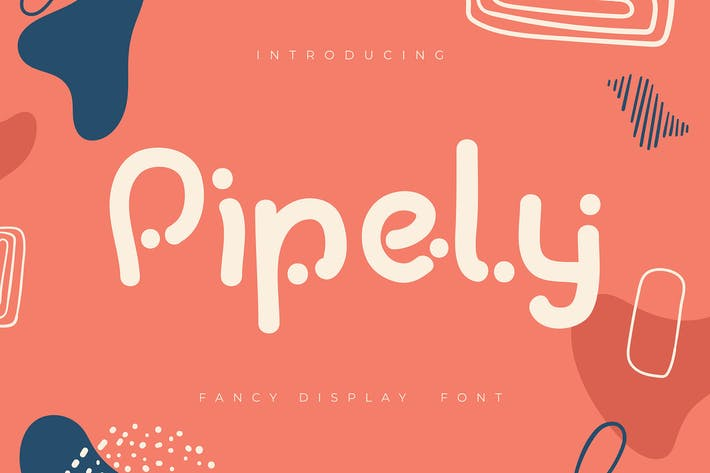 Thumbnail for Pipely | Fancy Display Font