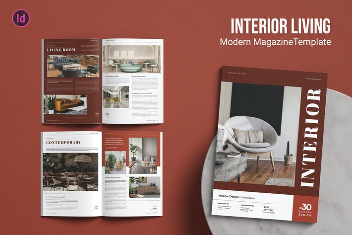 Thumbnail for Interior Living – Magazine Template