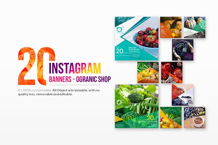 Thumbnail for 20 Instagram Organic Shop Banners