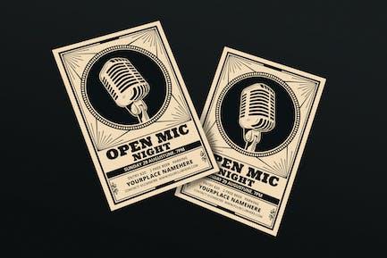 Karaoke / Open Mic Night Flyer