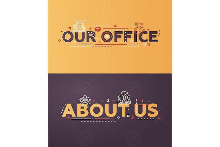 Thumbnail for Diseño plano Moderno de nuestra oficina, con letras sobre nosotros.