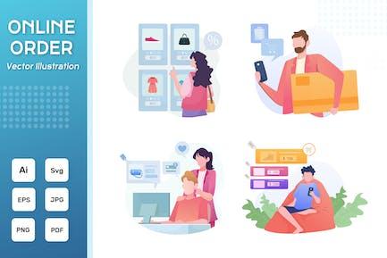 4 - Online Order Flat Illustration