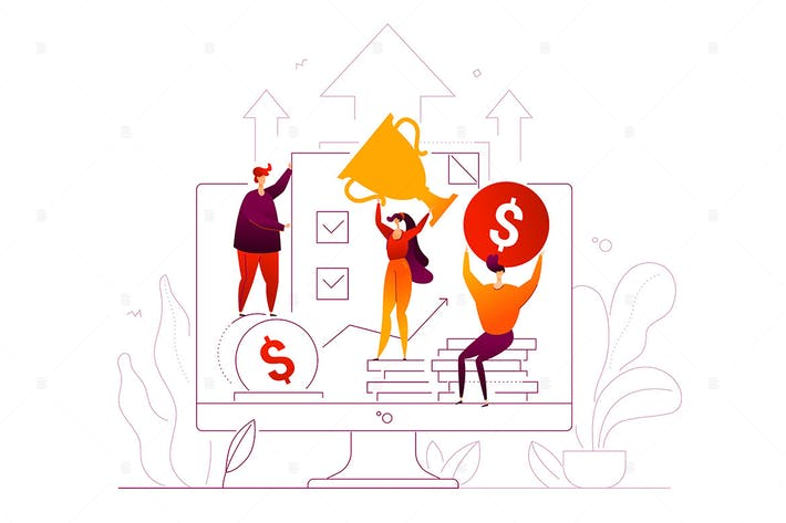 Thumbnail for Business success - flat design style illustration