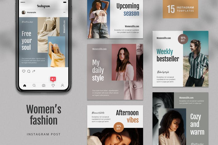 Thumbnail for Women's Fashion Instagram Post Template