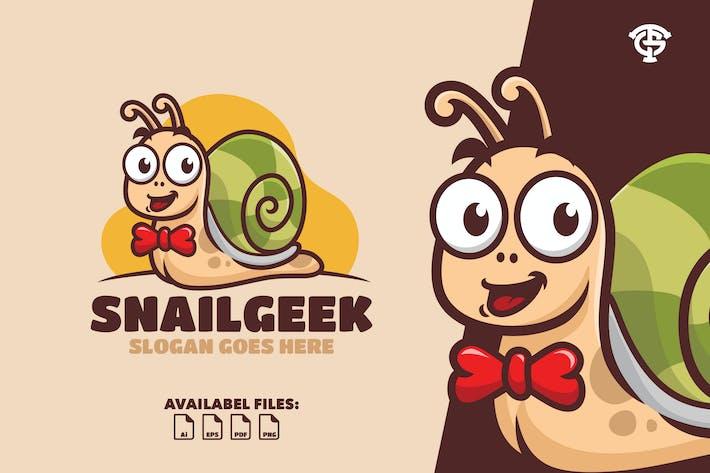 Thumbnail for Snail geek - Logo Mascot