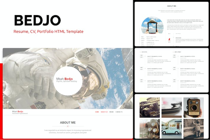 Thumbnail for Bedjo - Resume, CV, Portfolio HTML Template