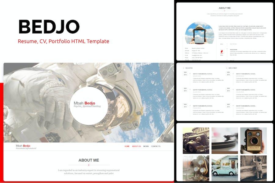 Bedjo - Resume, CV, Portfolio HTML Template