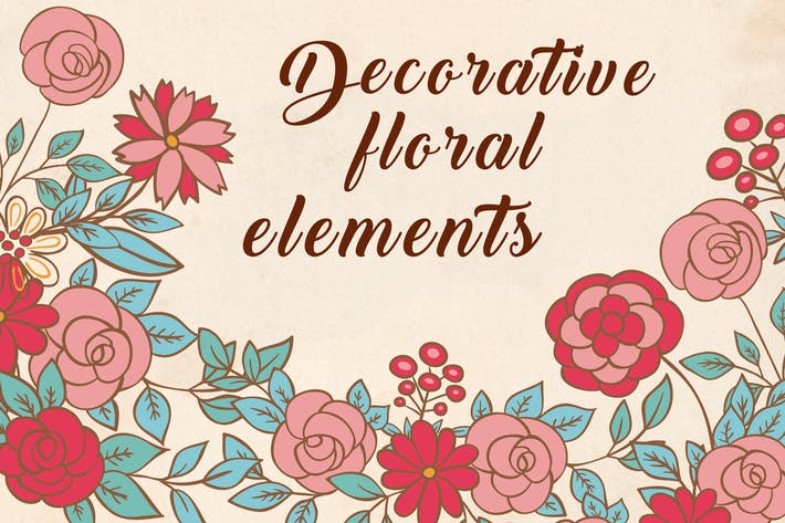 Cover Image For Decorative Floral Elements