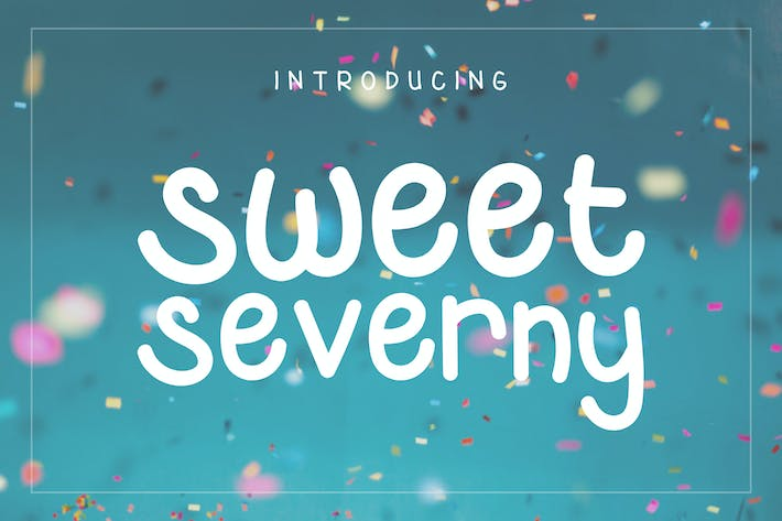 Thumbnail for Sweet Severny - Fun Typeface