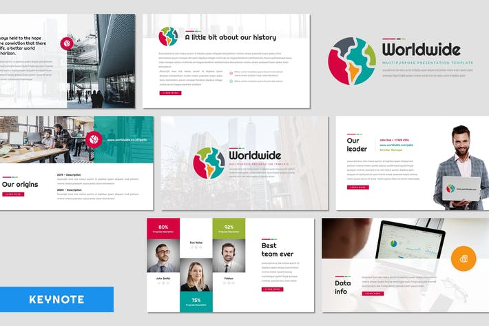 Thumbnail for World Wide - Multipurpose Keynote Template