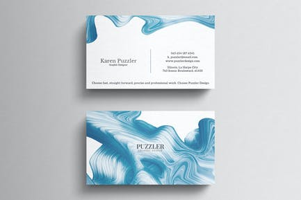 Simple artistic business card