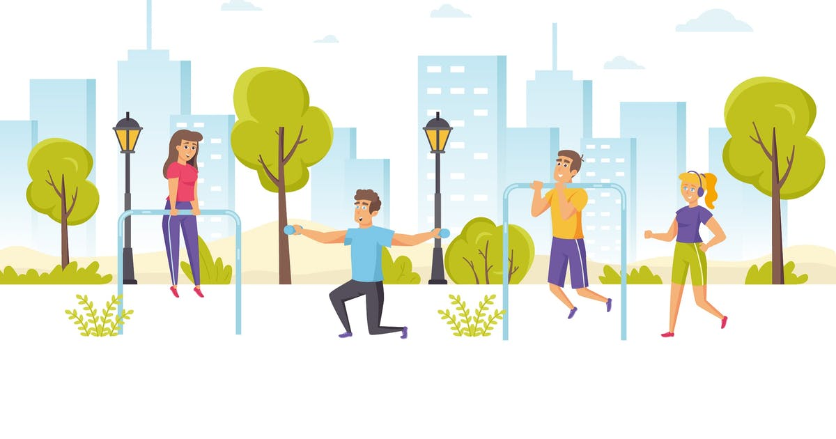 Download People Engaged Sports Flat Scene Situation by alexdndz