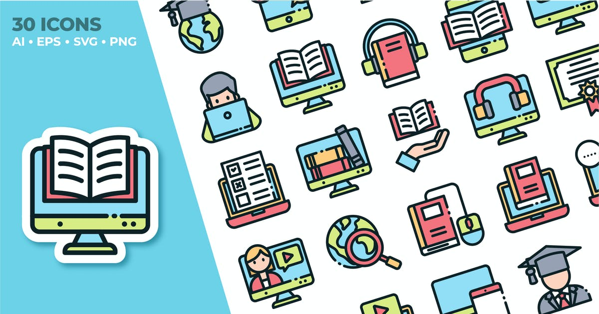 Download Online Education Icon Set by yellowline_std