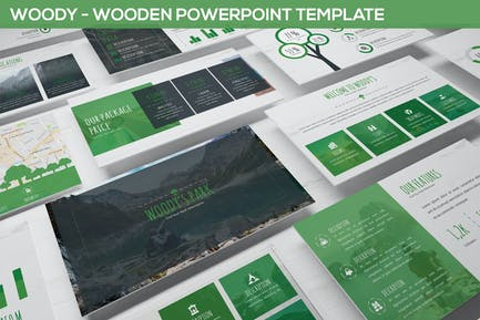 Woody - Wooden Powerpoint Template