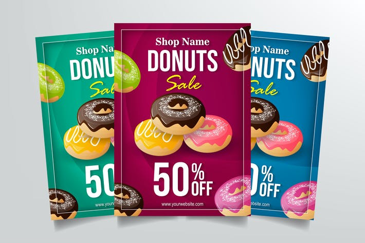 Thumbnail for Donuts Sale Flyer Template