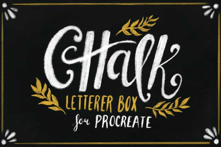 Thumbnail for Chalk Letterer Box for Procreate