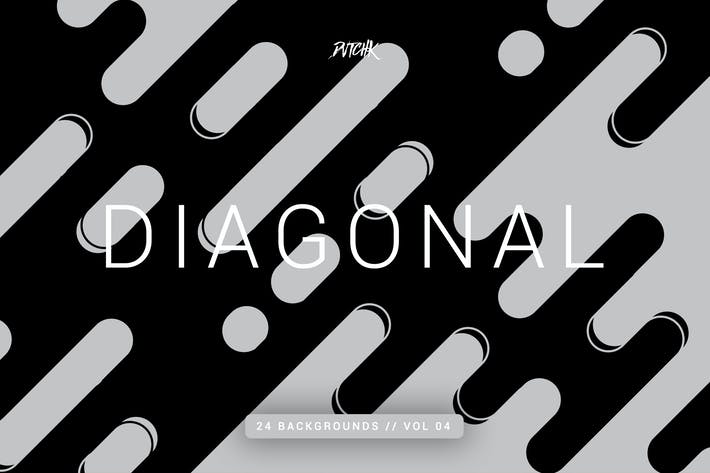 Thumbnail for Diagonal |Rounded Lines Backgrounds | Vol. 04