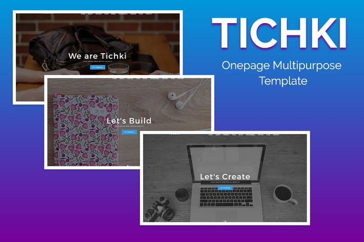 Thumbnail for Tichki-Onepage Multipurpose Template
