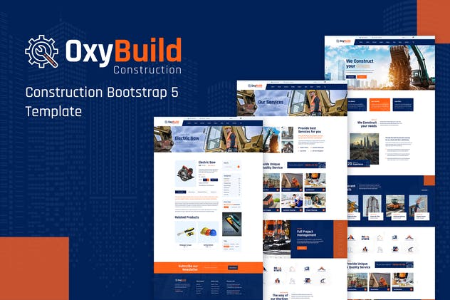 OxyBuild - Construction Bootstrap 5 Template