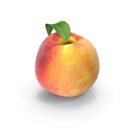 Pfirsich mit Blatt