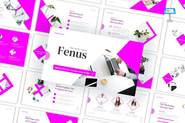 Thumbnail for Fenus - Creative Agency Google Slides Template