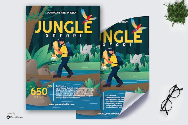 Thumbnail for Jungle Safari - Creative Poster GR