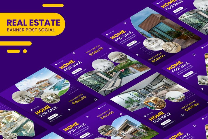 Cover Image For Real Estate Banner Instagram Stories Templates