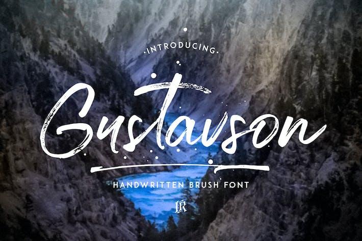 Thumbnail for Gustavson Script Font