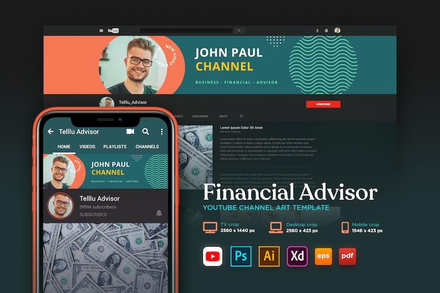 Youtube Cover Art Vol.14 Financial Advisor Channel