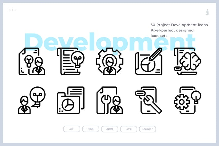 Thumbnail for 30 Project Development Icons