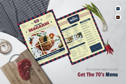 Get The 70s Restaurant Menu