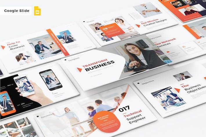Thumbnail for TRANSFORM BUSINESS - Google Slide V324