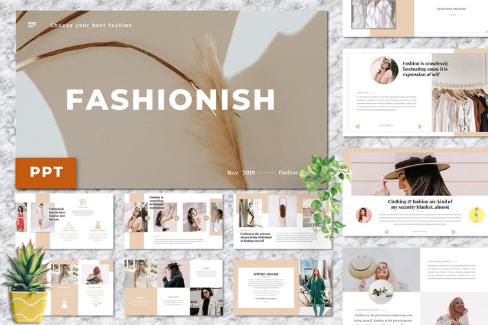 Thumbnail for Fashionish - Style PowerPoint Template