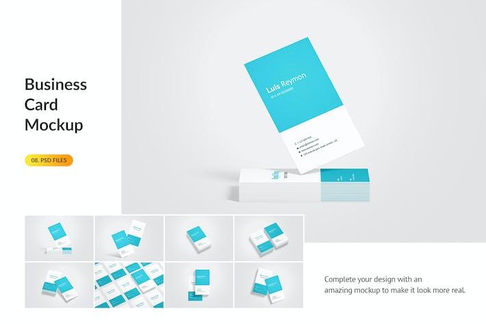 Thumbnail for Portrait Business Card Mockup