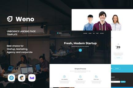 Weno - Запуск Unbounce целевой страницы Шаблон