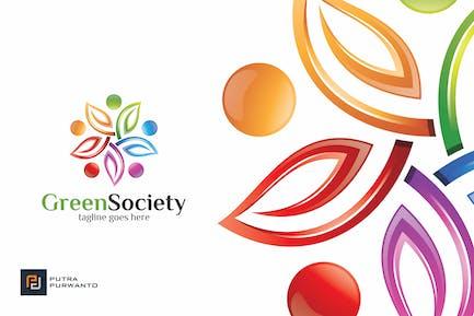 Green Society/Leaf - Logovorlage