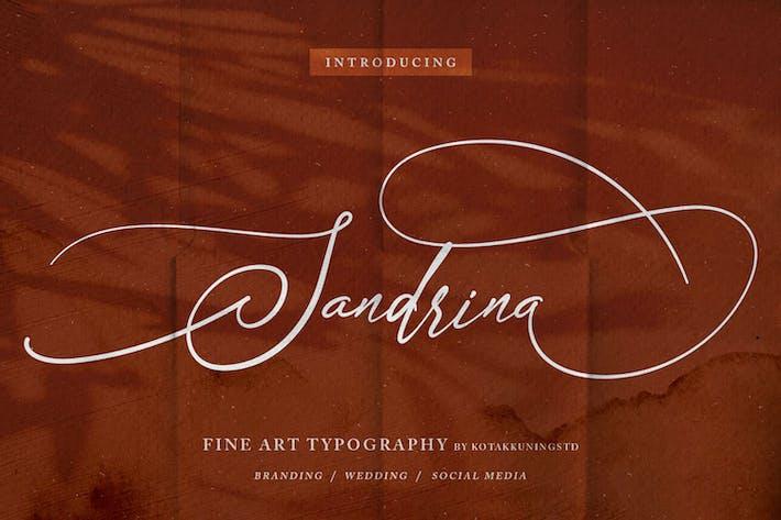 Сандрина - Элегантная каллиграфия