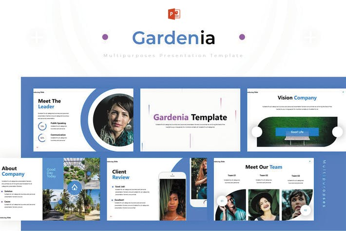 Thumbnail for Gardenia - Powerpoint-Vorlage
