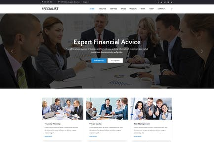 Specal - Financial, Consulting WordPress Theme