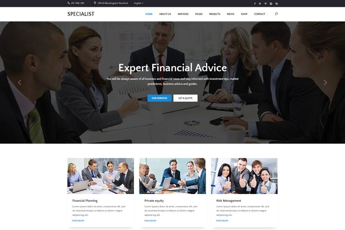 Thumbnail for Specal - Financial, Consulting WordPress Theme