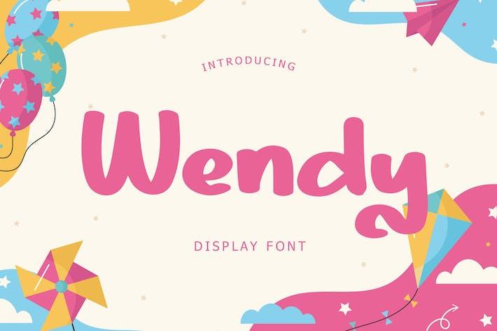 Thumbnail for Полужирный шрифт Wendy