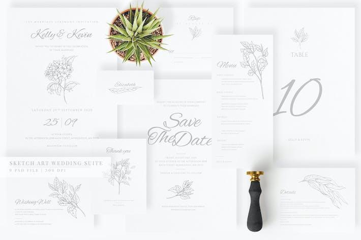 Thumbnail for Sketch Art Wedding Suite