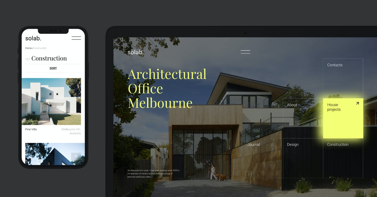 Download Solab – Template for Architectural Agency by helloDigi