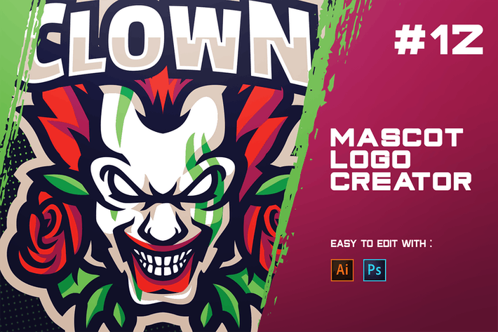 Thumbnail for CLOWN - E-Sports Logo Creator
