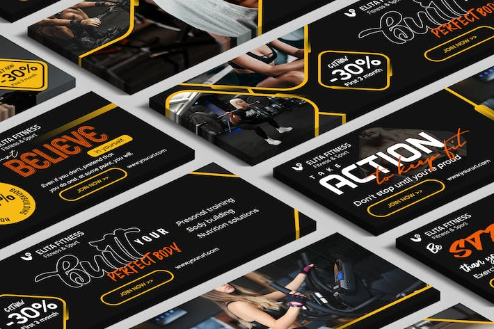 Thumbnail for Fitness, Yoga Website Slider PSD Template