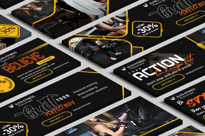 Cover Image For Fitness, Yoga Website Slider PSD Template