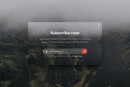 Subscribe Popup - Adobe XD