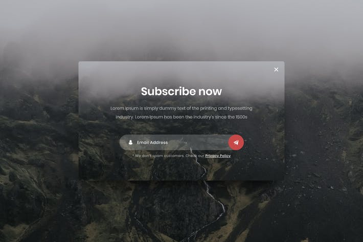Thumbnail for Subscribe Popup - Adobe XD